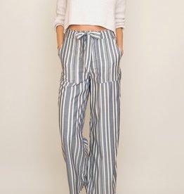 Pants Chan Luu - Blue Stripe Wide Leg Pants