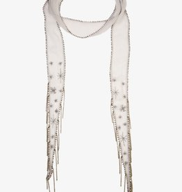 Scarves Chan Luu - Harbor Mist Embroidered Starburst Long Skinny Scarf