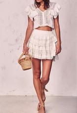 Skirt Love Shack Fancy - Ruffle Mini Skirt
