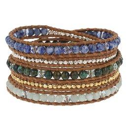 Bracelets Chan Luu - African Turquoise Mixed Wrap Bracelet