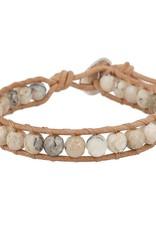 Bracelets Chan Luu - Multi Brioche Agate Single Wrap Bracelet