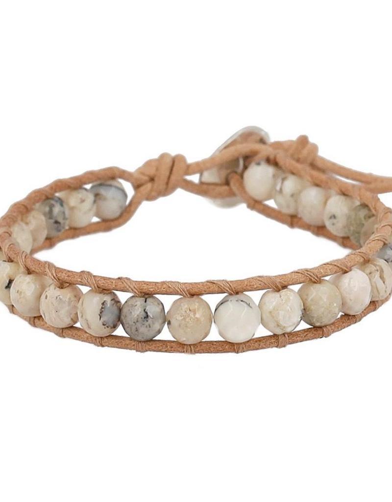 Bracelets Chan Luu Multi Brioche Agate Single Wrap Bracelet