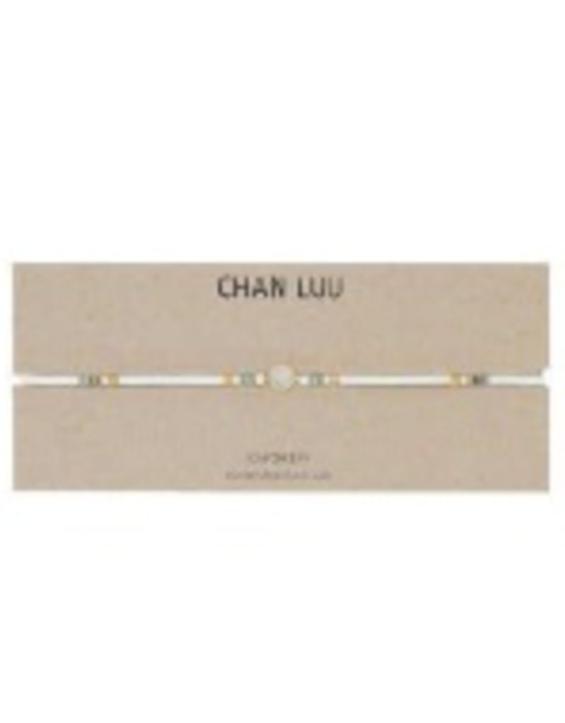 Necklaces Chan Luu - Moonstone Pendant And Raw Cut Leather Choker/Bracelet