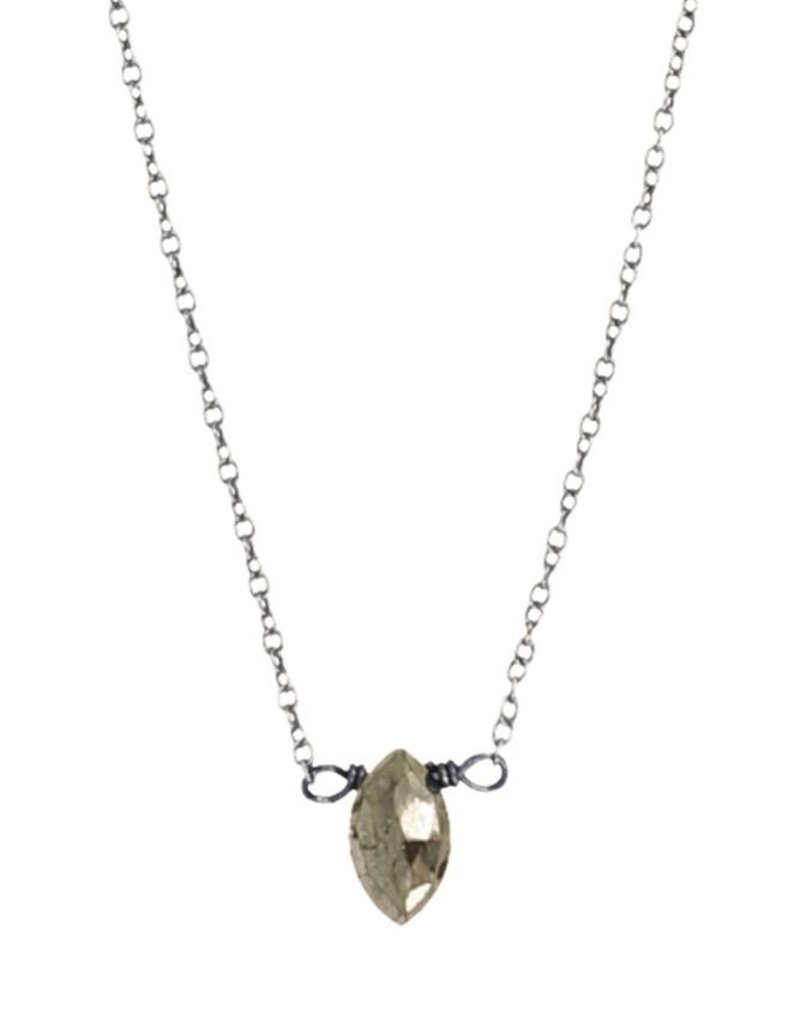 Necklaces Chan Luu - Pyrite Mini Drop Necklace