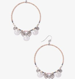 Earrings Chan Luu - Muscat Mix Coin Hoop Earrings