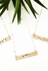 Necklaces Wahine Rox - Gold Bar Necklace Kaua'i