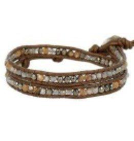 Bracelets Chan Luu - Pyrite Mix Double Wrap Bracelet