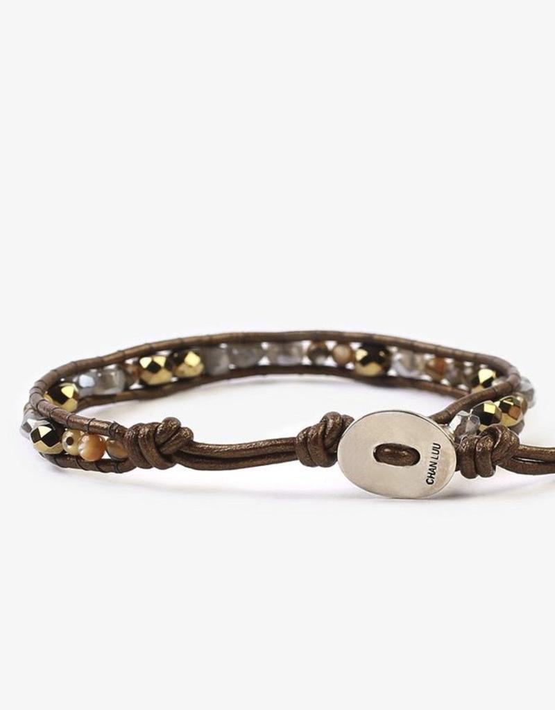 Chan Luu - Abalone Mix Single Wrap Bracelet