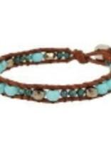 Bracelets Chan Luu - Turquoise Mix Single Wrap Bracelet