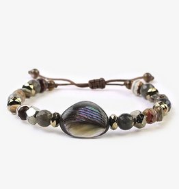 Bracelets Chan Luu - Abalone Mix Adjustable Bracelet