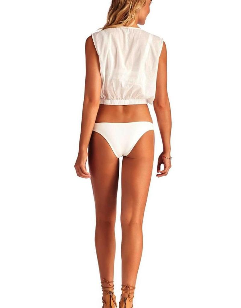 Tops Vitamin A - Talya Tank in White Gold Coast Cotton Voile