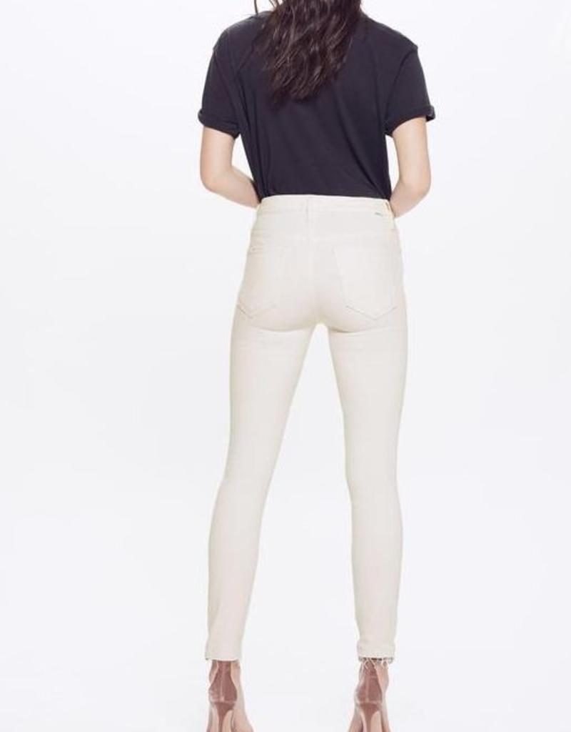 Jeans MOTHER - High Waisted Looker Ankle Fray in Whipping The Cream