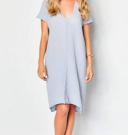 Dresses felicite - Double V Neck Dress in Grey Skies