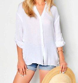 Tunic felicite - Side Lace Tunic Cotton Gauze