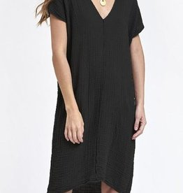 Dresses felicite - Double V Neck Dress in Carbon