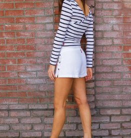 Shorts Hard Tail - Buttoned Slit Short in White