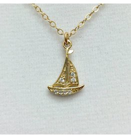 Sailboat - CZ Gold Filled