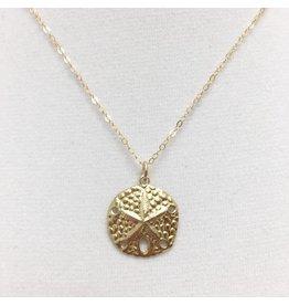 Sand Dollar - Large Gold Filled