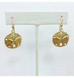 Gold Filled Sand Dollar Earring LG