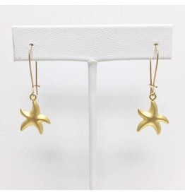 Gold Filled Starfish Dangle Earring