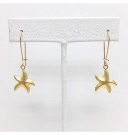 Gold Filled Starfish Dangle Earring