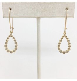 Gold Filled CZ Teardrop Earrings