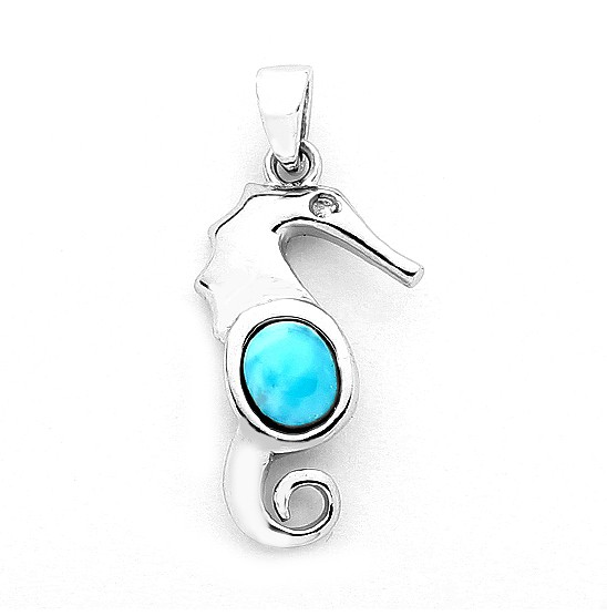 Sterling & Larimar Belly Seahorse