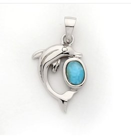Sterling & Larimar Dolphin with Ball