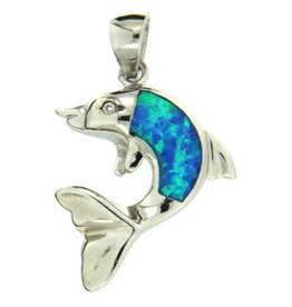 Sterling & Opal Dolphin (Large Single Opal)