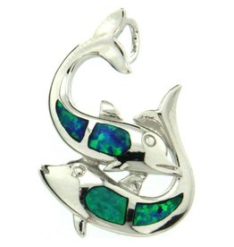 Sterling & Opal Double Dolphin