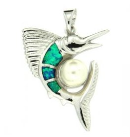 Sterling & Opal Sailfish with Pearl