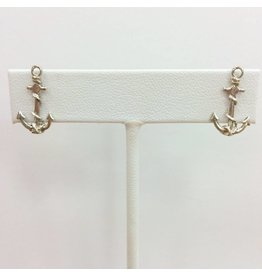 Sterling Anchor Stud Earrings with Rope Detail
