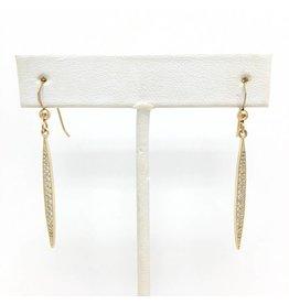 Sterling Blade CZ Earrings Gold