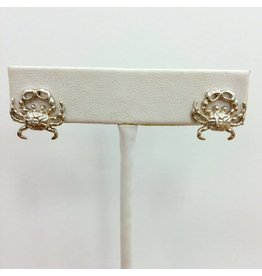Sterling Crab Stud Earrings