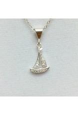 Sailboat - CZ Silver