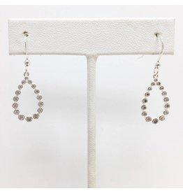 Sterling CZ Teardrop Earrings