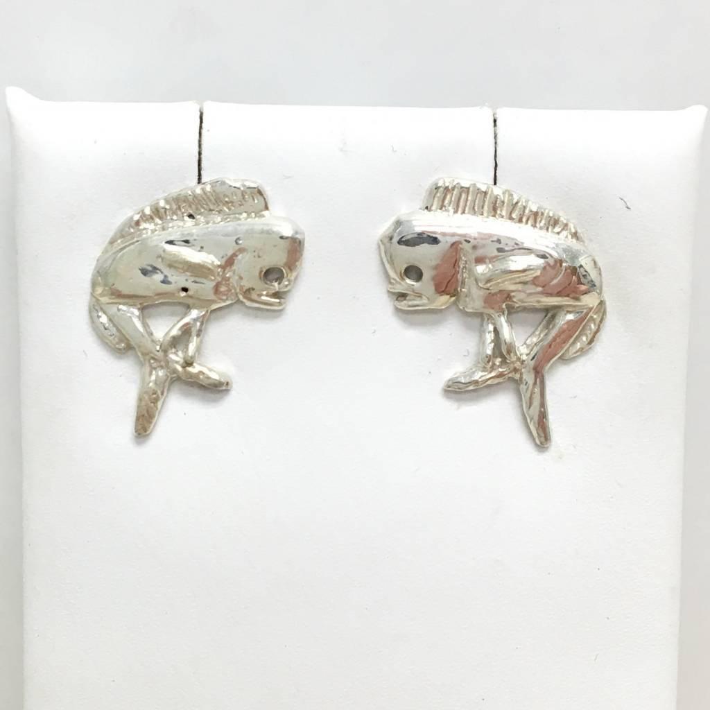 Sterling Mahi Stud Earrings