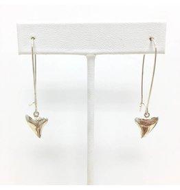 Sterling Shark Tooth Earrings