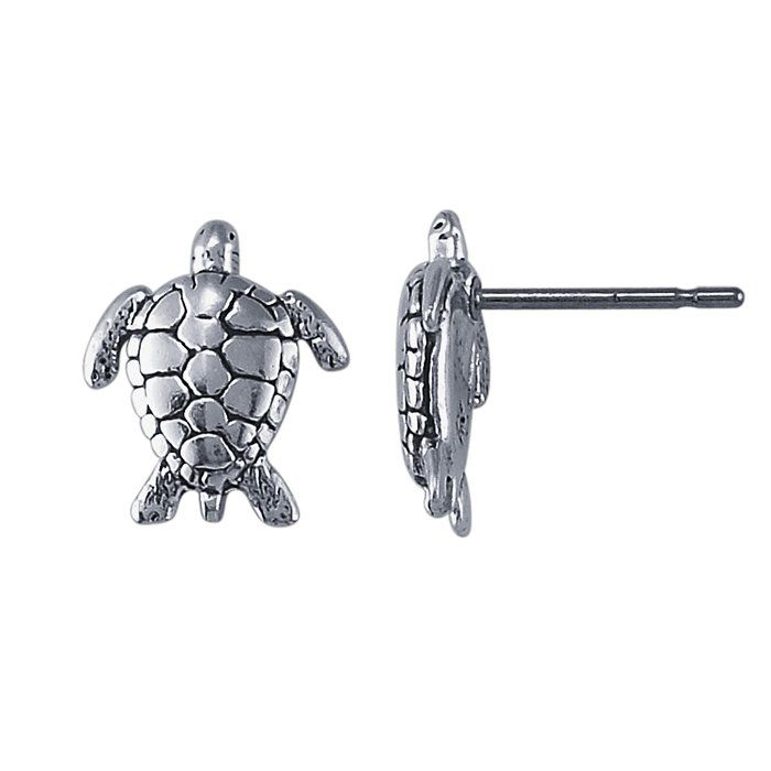 turtle baubles earrings thailand stud booty sterling n silver product