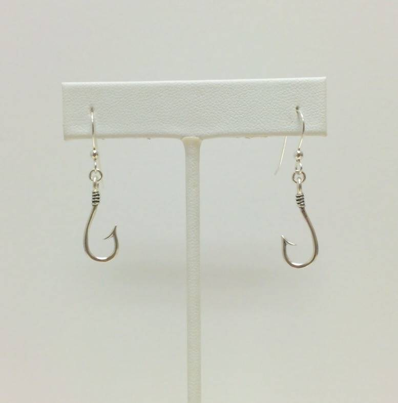 Sterling J Hook Earrings