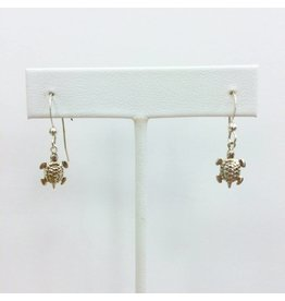 Sterling Tiny Turtle Charm Earrings