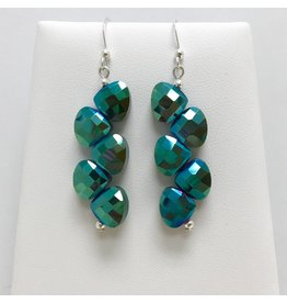 Emerald Green Crystal Earrings