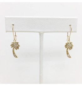Gold Filled CZ Palm Tree Earrings