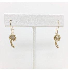 Gold Filled CZ Palm Tree Earrings
