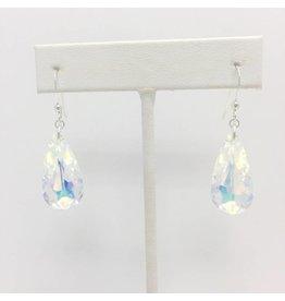 Sterling Aurora Borealis Crystal Earrings