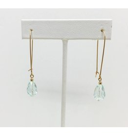 Gold Filled Aquamarine Crystal Earrings
