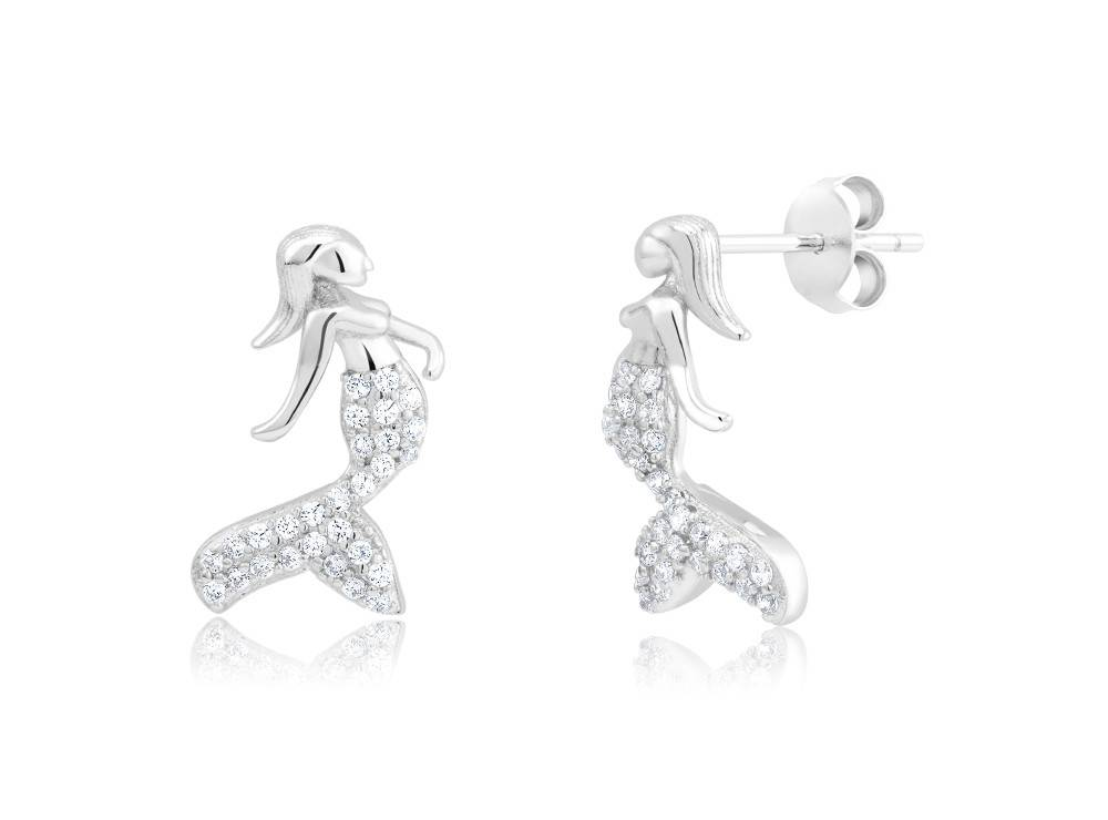 Mermaid CZ Stud Earrings