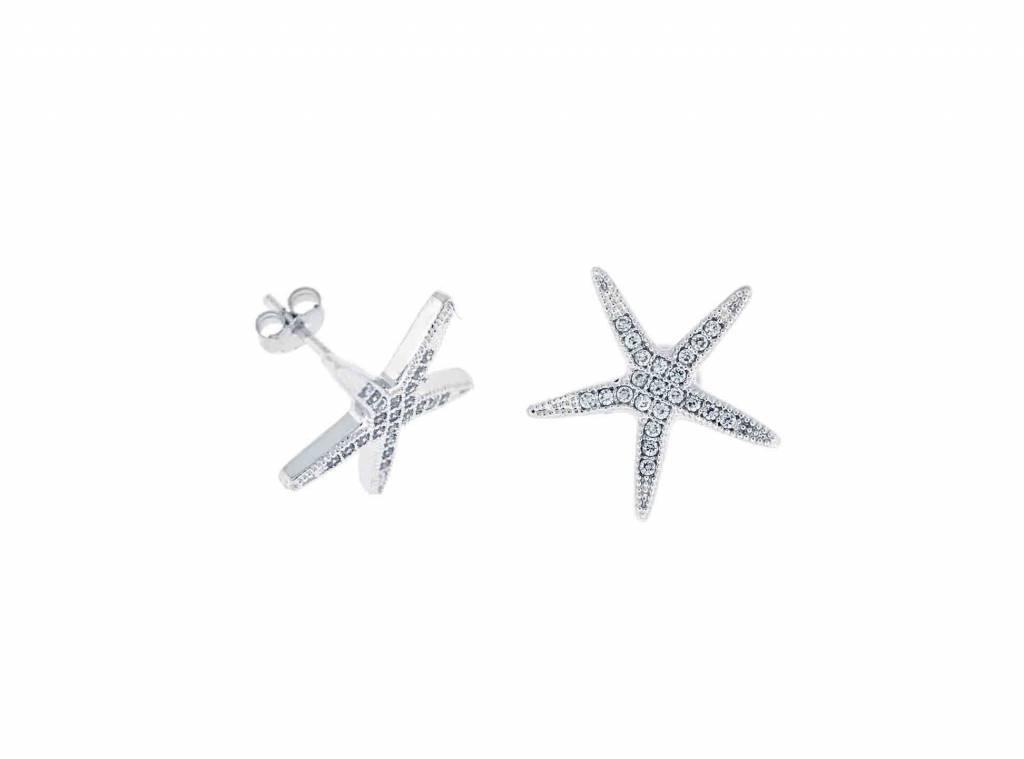 Starfish CZ Stud Earrings