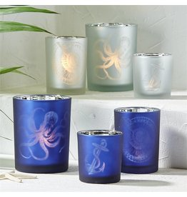 Small Aegean Candle Holder with Anchor