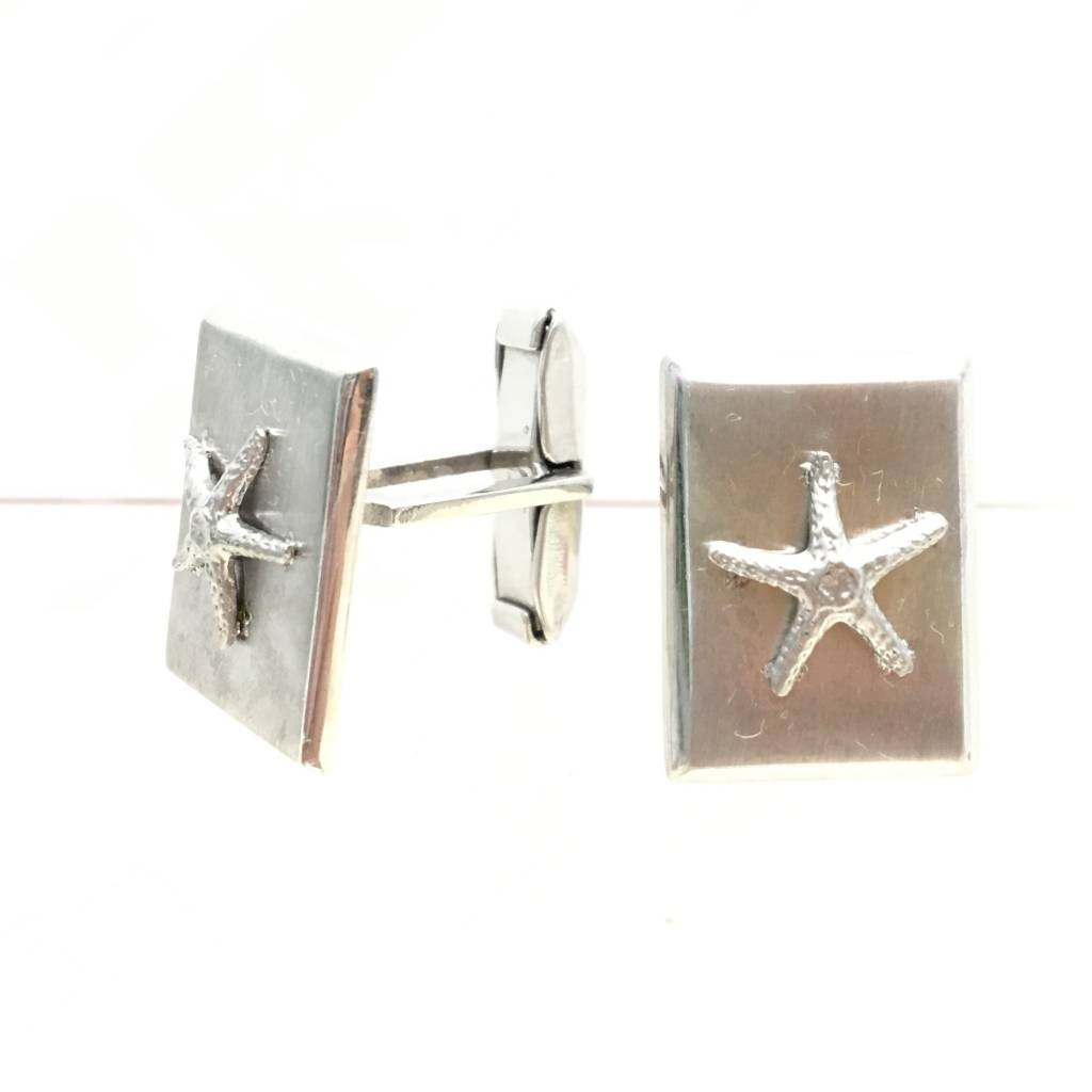 Men's Sterling Starfish Cufflinks